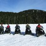Us snowmobiling at nearby Cougar mountain