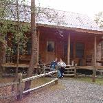 My husband and I on the front porch of Sweet Dreams!