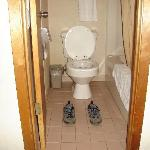 Bathroom with shoes to see size