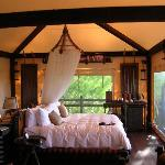 Beatiful interior of tent