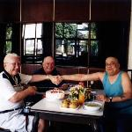 Three old timers in the hotel restaurant
