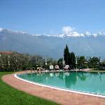 View from the Outdoor Pool - looking over at Lake Garda