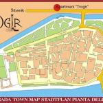 Map of Trogir showing location