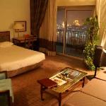 King room with view over the Nile.