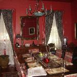 The dining room at the Brownstone Inn