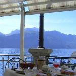  Breakfast on the lakeside terrace