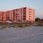 The building from the beach