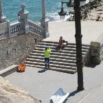 On the steps of the cathedral, Sitges