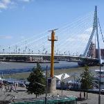 View of Erasmus Bridge from 2nd storey room.