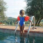 from the pool of Monacianello farmhouse at Monaciano in Tuscany