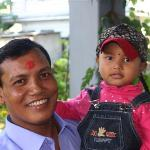 Owner Raju with his daughter Ria