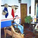 Sitting area of Posada Luz Caraballo