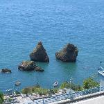 One can swim to these rock formations from the beaches along the Marina district of Vietri...