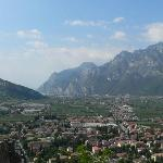 veiw over Arco towards Riva - from castle