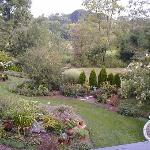 Gardens from the Breakfast Porch