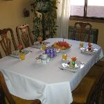The Dining Room - that's just the beginning of breakfast! The waffles/french toast/ham came...