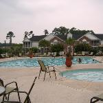 Ellington Resort Pool and Parking lot