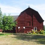 The barn outside of the Carriage House