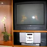 TV in living room and MP3 Player