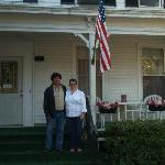 Me and Phillip (Elvis) in front of the Inn