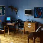 Common area with Internet & piano
