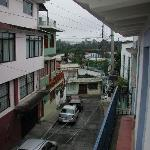 View of the street from the room