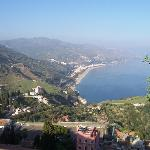  View over coast from Taormina