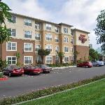 Four story hotel located in Los Alamitos adjacent to Cypress CA