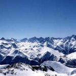 View of Deux Alpes, Winter