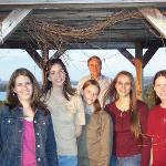 My cousins and me (and dad) in the gazebo at BL golf club