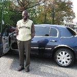 Fenn - Our excellent taxi driver with his limo!