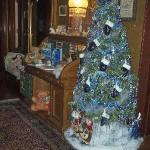 Christmas tree in upstairs hallway