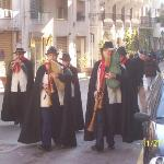 Pipers at religious festival in Minori