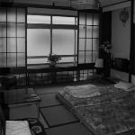 Same room in black and white