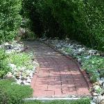 Lovely garden pathway at the Patty Kerr B & B.