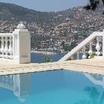  Kalkan Harbour from the pool at the Eagle&#39;s Nest.