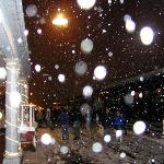  Williams Train Station in Blizzard