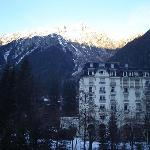 View of Mount Blanc from our room