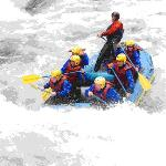 White water rafting - the exciting part!