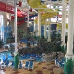 View of waterpark from the balcony / foodcourt