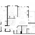 Floorplan of a 3 bedroom unit (2bd + studio lockoff)