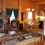 The cabin had a full kitchen that was well stocked and plenty of room for our family of four.