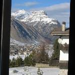 View from our room into Livigno