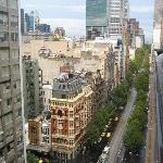 View from the apartment west along Collins Street