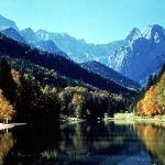 The lake and the Zugspitze