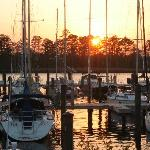  Sunset at Broad Creek Marina