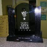 The hotel's platinum award