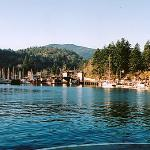 arriving by ferry in snug cove