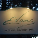 Exterior Sign at Evans Cafe