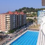 Training pool from 8th floor balcony - Hotal catalonia